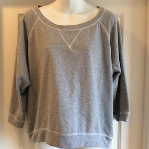 Eyelash Couture Gray Sweatshirt Top Size XL